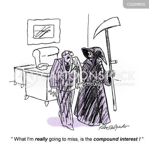 compound interest cartoon