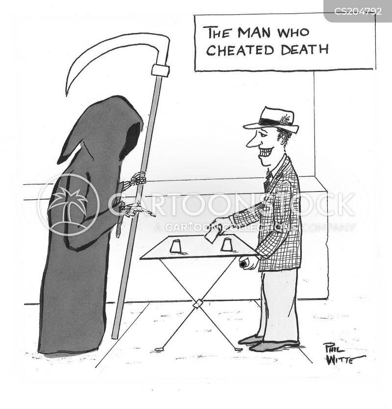 scammers cartoon