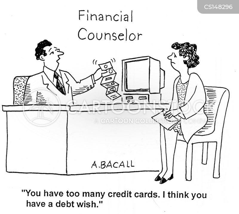 financial counsellors cartoon