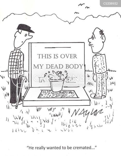 cremating cartoon
