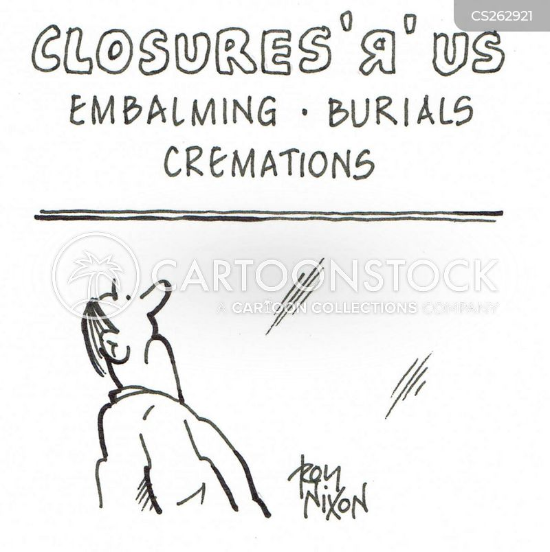 embalming cartoon