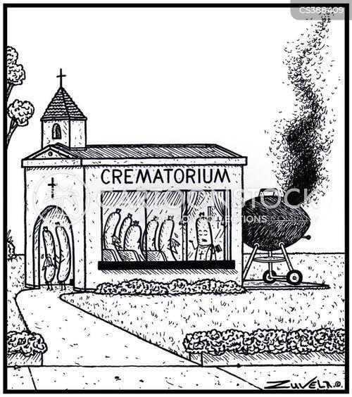 crematoriums cartoon