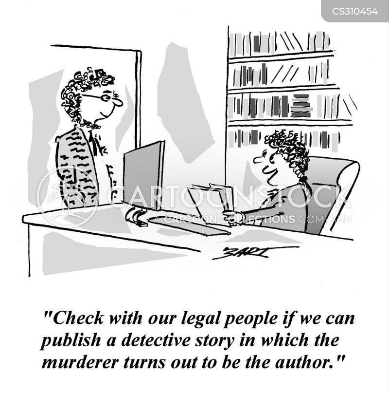 crime novels cartoon