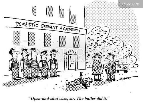 domestic staff cartoon
