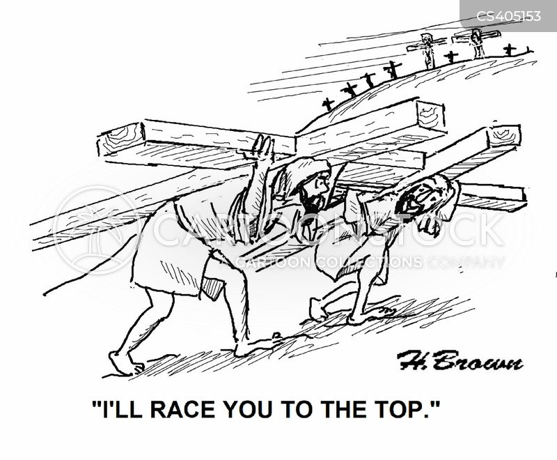 crucifixions cartoon