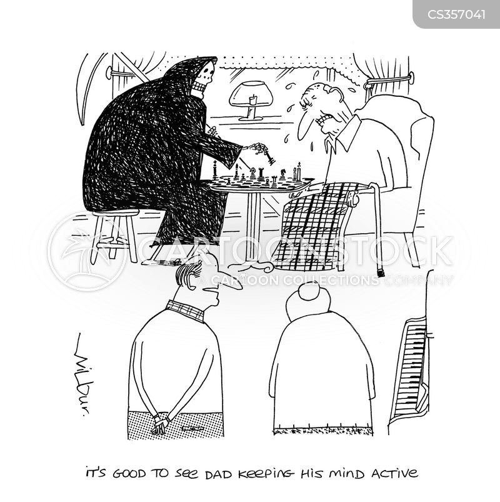 keeping active cartoon
