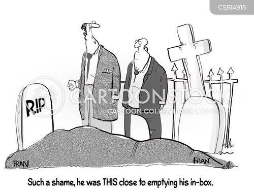 email inbox cartoon