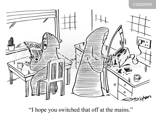 domestic accident cartoon