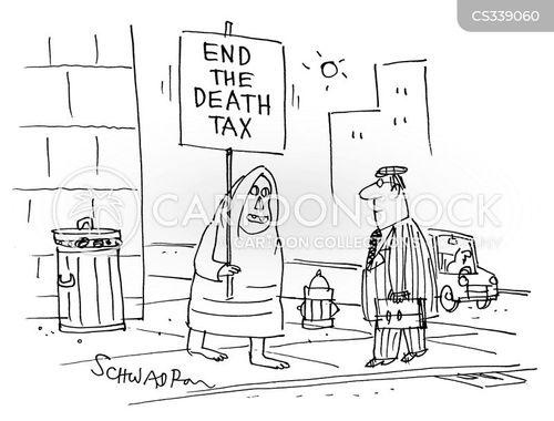 death duty cartoon