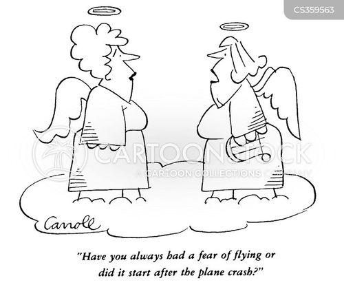 fear of flying cartoon