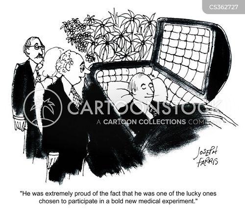 medical experiments cartoon
