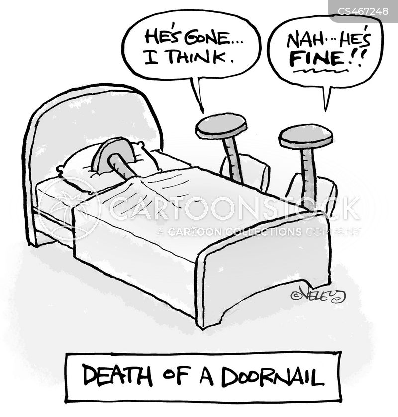 door nail cartoon