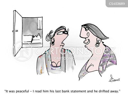 bank statements cartoon