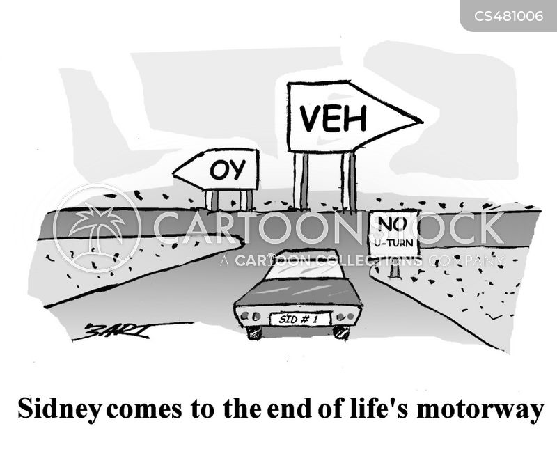 end of the road cartoon