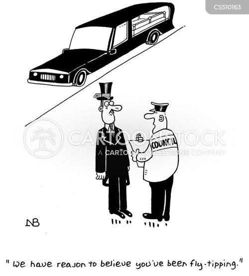 fly tip cartoon