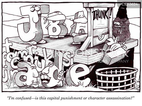 character assassination cartoon