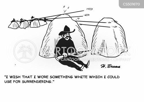white flags cartoon