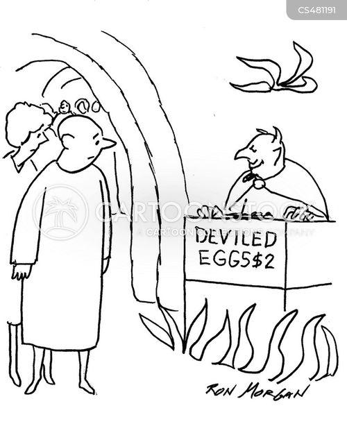 devilled eggs cartoon