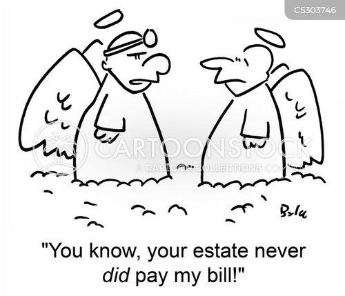 unpaid bill cartoon