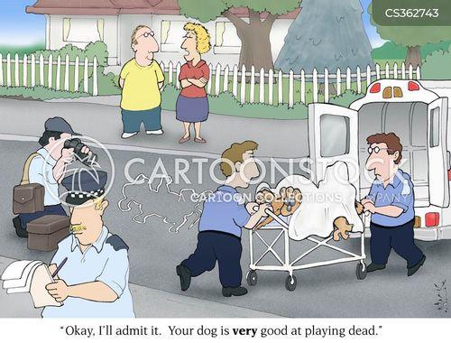 dead dogs cartoon