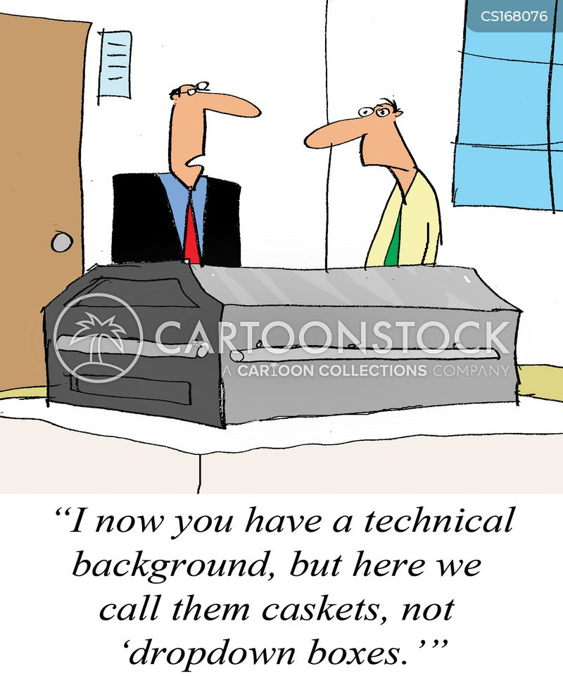 casket cartoon