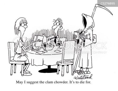 clam chowder cartoon