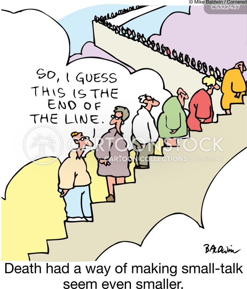 end of the line cartoon