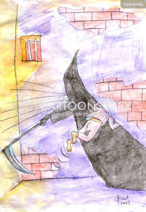 escaping prison cartoon