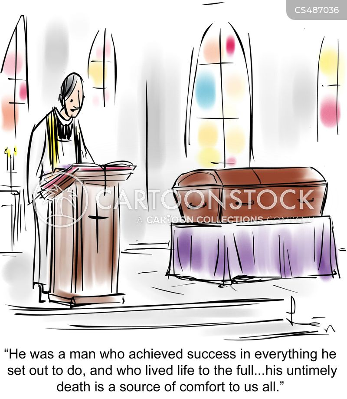 funeral sermon cartoon