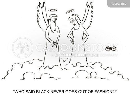 black clothes cartoon