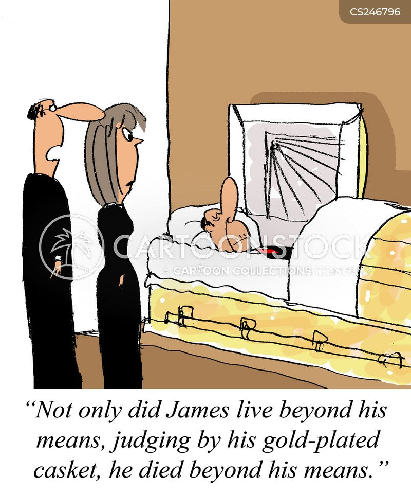 living beyond your means cartoon