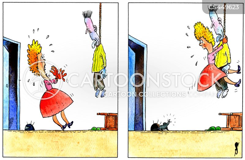 hanged cartoon