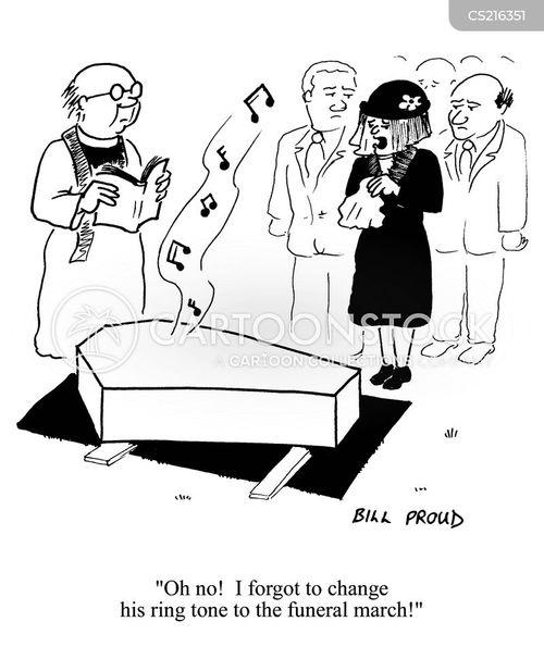 funeral march cartoon