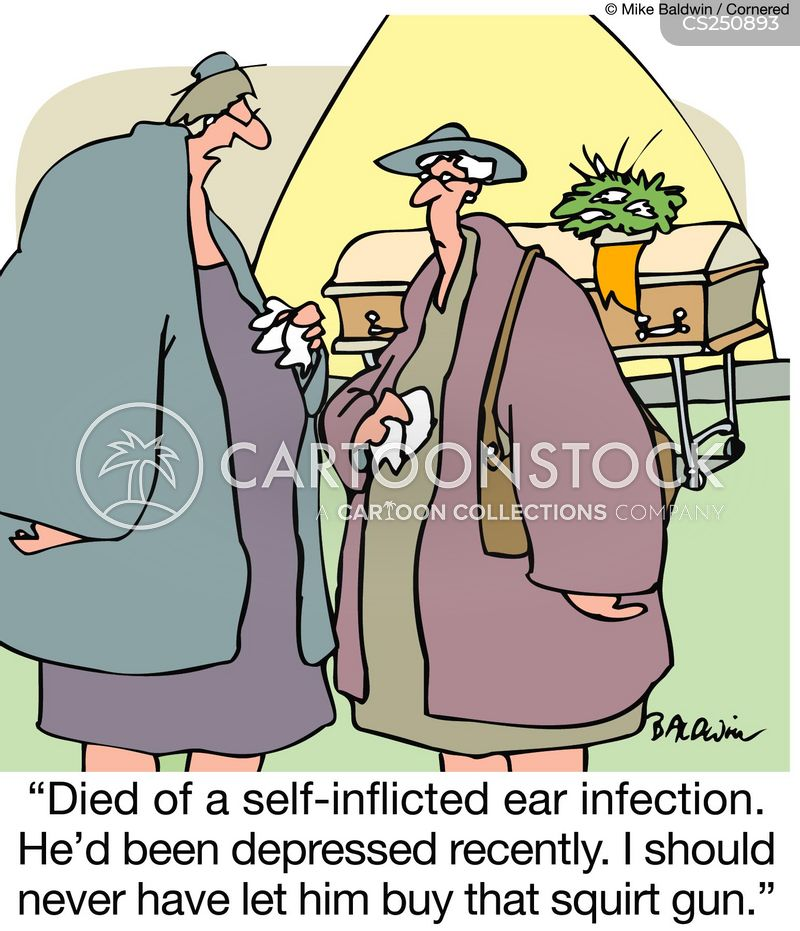 self inflicted cartoon