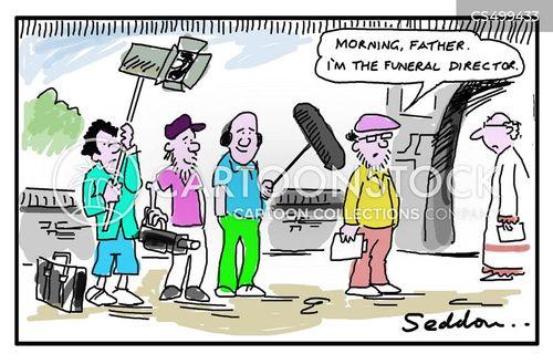 filming crew cartoon
