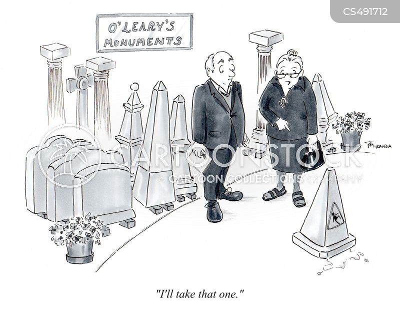 grave marker cartoon