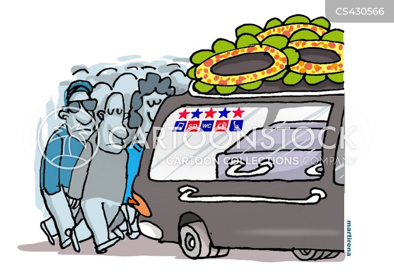 funeral processions cartoon