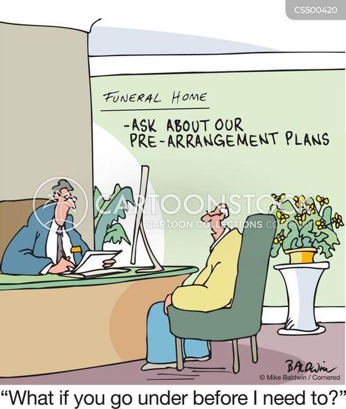 funeral planning cartoon