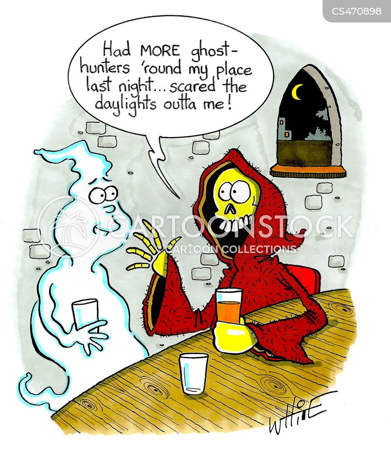 Ghost-hunter Cartoons and Comics - funny pictures from CartoonStock