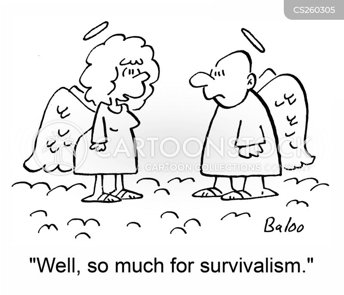 survivalist cartoon