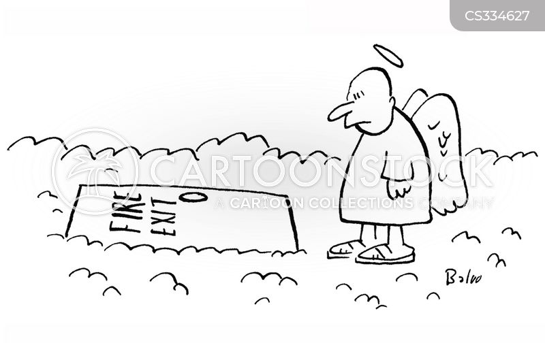 fire exits cartoon