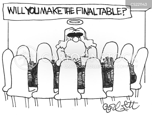 poker table cartoon