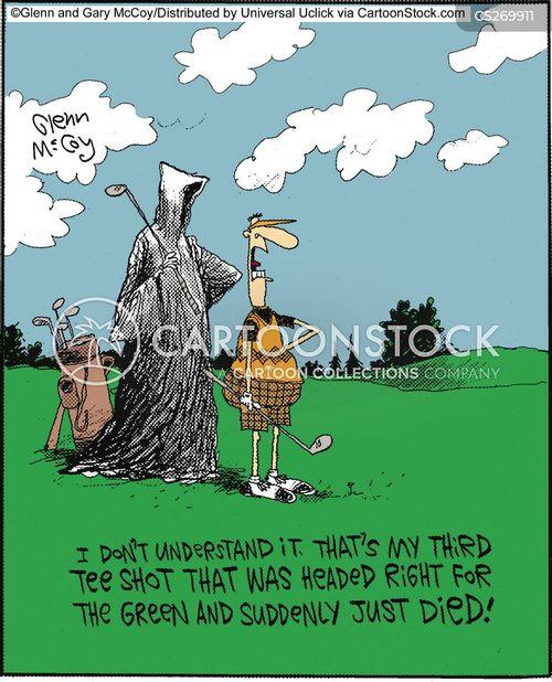 tee shot cartoon