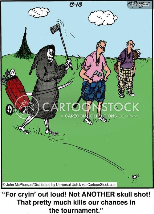 golf tournaments cartoon