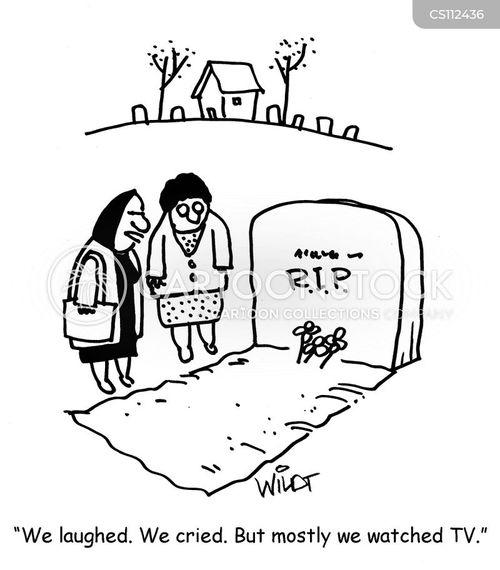 gravesite cartoon