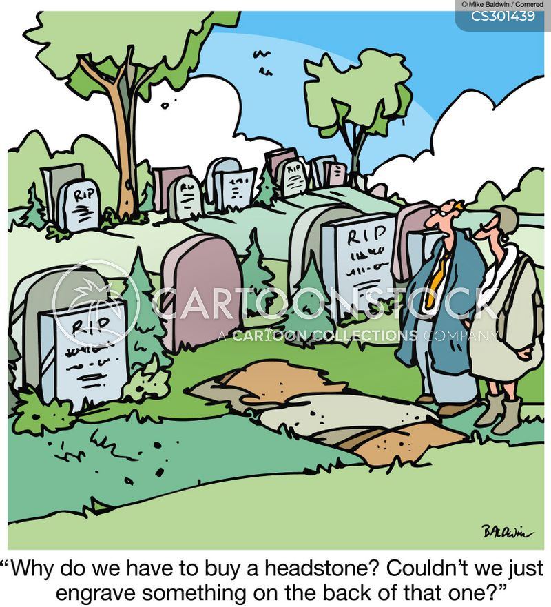 head stone cartoon