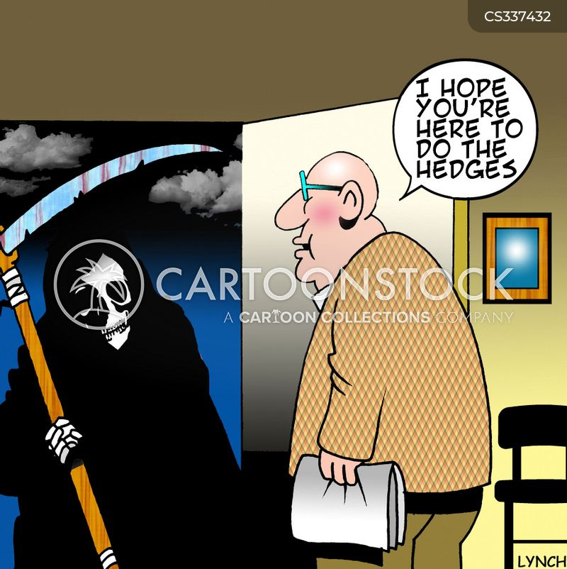 hedge trimmers cartoon