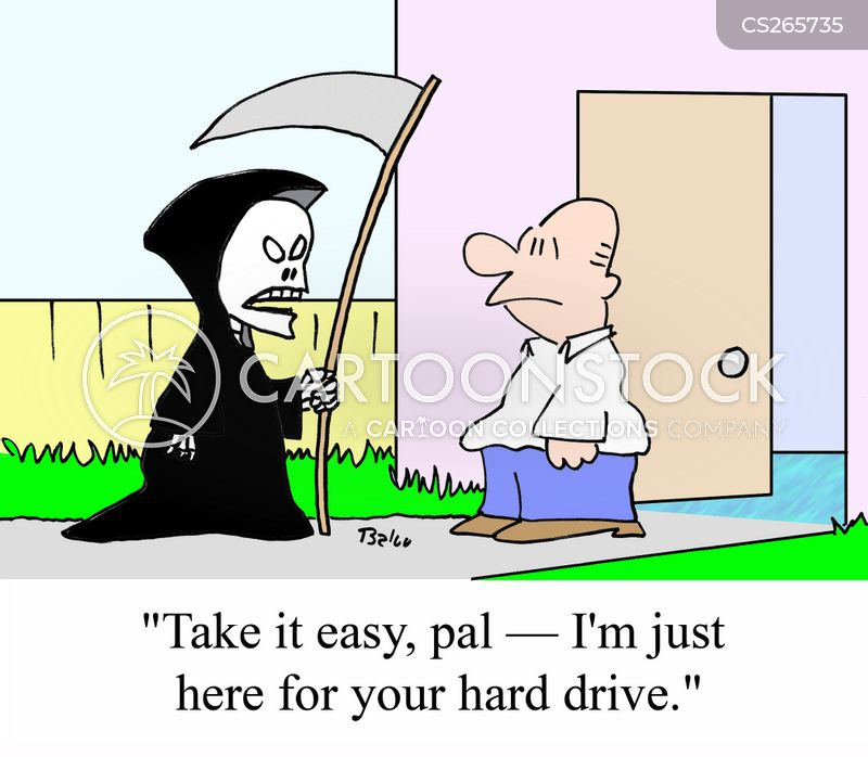 harddrive cartoon