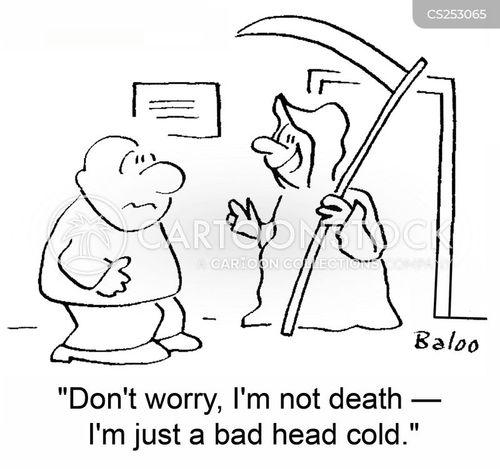 head colds cartoon