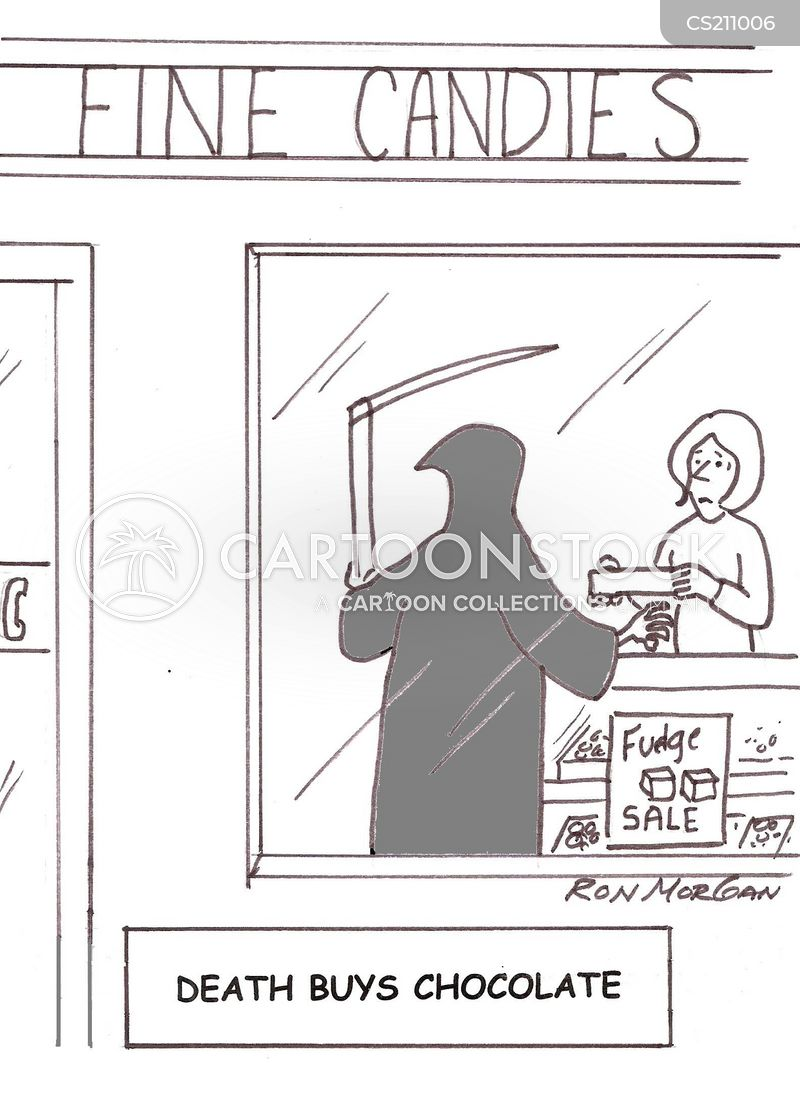 chocolate shops cartoon